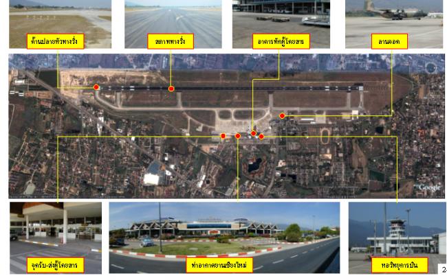งานศึกษาสำรวจออกแบบรายละเอียดงานขยายความยาวทางวิ่ง ทางขับ ท่าอากาศยานเชียงใหม่